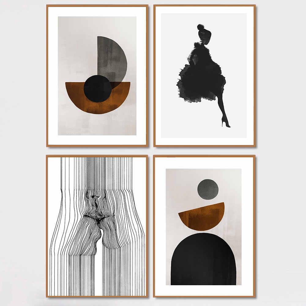 Linea astratta Faccia Bacio Tela Poster Nordic Geometria Della Decorazione Della Parete di Stampa Pittura Decorativa Immagine Scandinavo Decorazioni Per La Casa