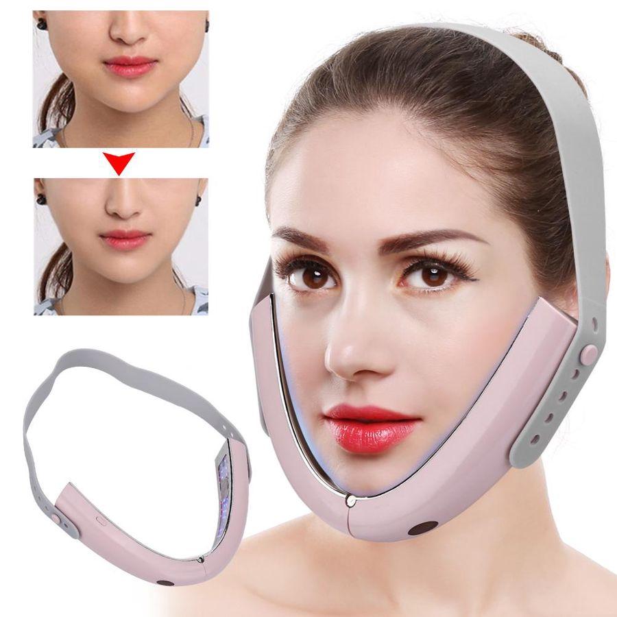 Micro-corrente elétrica rosto massageador inteligente quente compressa