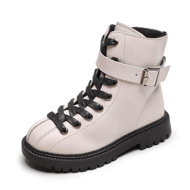 SKOEX בני בנות מגפי חורף לילדים מגפי שלג עמיד למים צד רוכסן ילדים נעלי קרסול לילדה מרטין נעלי גודל 27-37