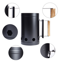 Outdoor Camping Portable Barbecue Chimney Charcoal Starter Fire Lighter Bucket Barrel Grilling BBQ Tools Accessories