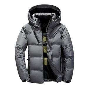 Image 3 - 2020 neue Winter Jacke Männer Mit Kapuze Dicke Warme Ente Unten Jacke Männer Parka Casual Hohe Qualität Herren Mantel Winter Unten mäntel Männer