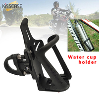 KISSCASE Nylon Plastic Bicycle Bottle Holder Cycling Water Bottle Cages Bike Mount Bracket Adjustable Stable Bicycle Accessories