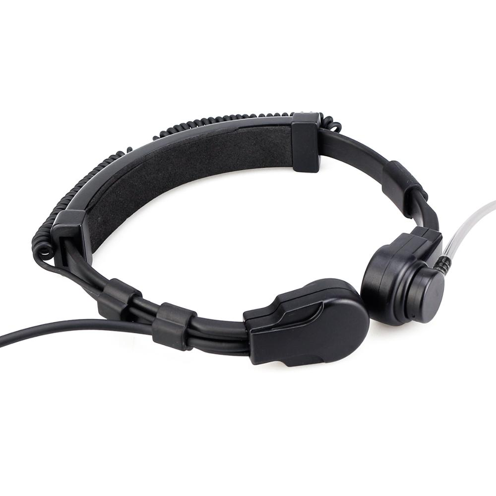 3-2 RETEVIS ETK006 Adjustable Tactical Throat Mic With PTT Throat Microphone Headphones Walkie Talkie For Airsoft Games