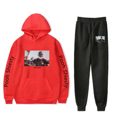 Pooh Shiesty Hip Pop Newest Printed Harajuku 2021 New Style casual Jogger+Hoodies Sweatshirt Casual Sets