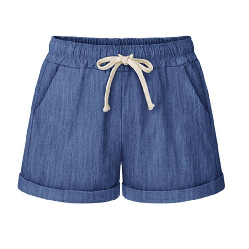 Drawstring High Waist Shorts Breathable Shorts Summer Women Hot Shorts Plus Size