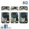 Полная задняя крышка для iphone 8 8G / 8 Plus корпус батарейного отсека Корпус средней рамы корпуса в сборе задняя дверь с гибким кабелем