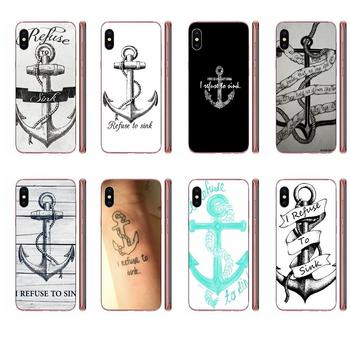I Refuse To Sink Anchor For Galaxy Grand A3 A5 A7 A8 A9 A9S On5 On7 Plus Pro Star 2015 2016 2017 2018 Soft Stylish Case image