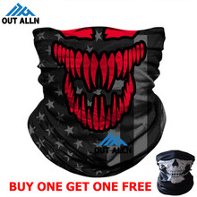 2020 NEW 3D Venom Bandana Scarf Motorcycle Face Mask Punisher Windproof Neck Gaiter Skull Flags UV Headband Neck Warmer Headwear(China)