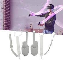 Очки виртуальной реальности Vr аксессуары Защитная крышка для Oculus Quest 2 Очки виртуальной реальности Vr сенсорный контроллер силиконовая Обло...