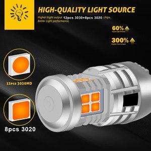 Image 5 - 2 pièces pour voitures, clignotant Orange, Orange, Orange, Orange, Orange, T20 W21W 7440 LED BAU15S P21W PY21W 1156, 2 pièces