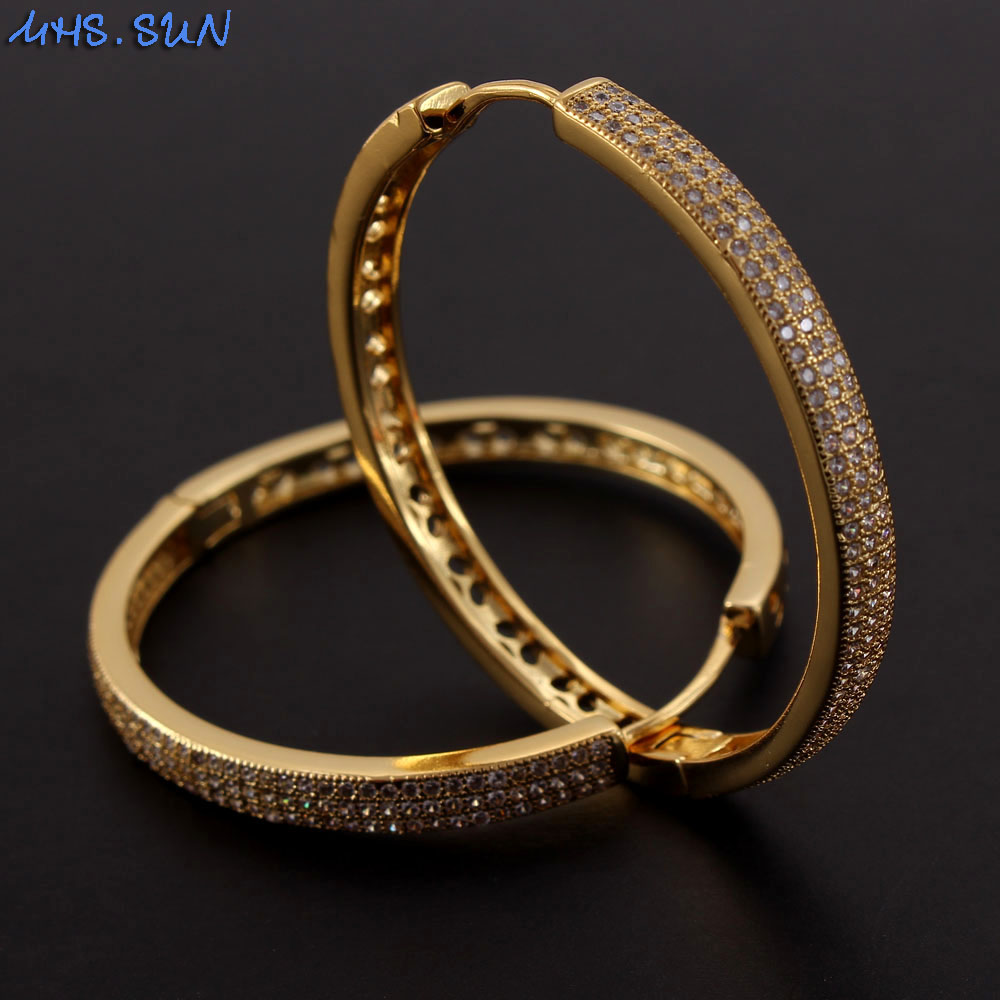 MHS.SUN 2020 new arrival women fashion zircon hoop earrings luxury weeding AAA...