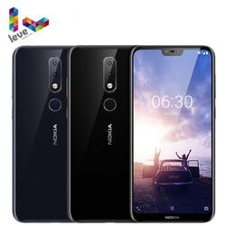 Мобильный телефон Nokia 6,1 Plus, Android 4G, 5,8-дюймовый экран FHD +, 4 Гб + 64 ГБ, Snapdragon 636 восемь ядер, разблокированный смартфон Nokia X6, сканер отпечатка паль...