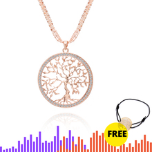 Crystal Tree Of Life Pendant Necklace For Women Gold Silver Multilayer Long Short Chain Choker Women Fashion Jewelry Gifts 2019 round owl pendant necklace for women tree life crystal necklace gold silver rhionstone jewelry female animal collar 2019 fashion