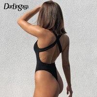 Darlingaga Backless Kreuz Tank Rippen Body Frauen Gestrickte Solide Grund Körper Mode Ärmel Bodys Tops Sommer Overall