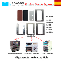YMJ laminating mold for iPhone 6 6S Plus 7 8 LCD Display Glass Frame OCA Align and Laminate