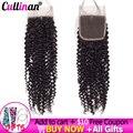 Кудрявые вьющиеся волосы на сетке 4x4, естественный цвет, 8-22 дюйма, бразильские человеческие волосы без повреждений, швейцарская кружевная з...