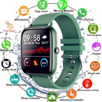 2021 Smart Watch Men Women Full Touch Blood Pressure Monitor Fitness Tracker Sport Smartwatch Watch for Android IOS Smart Clock 1