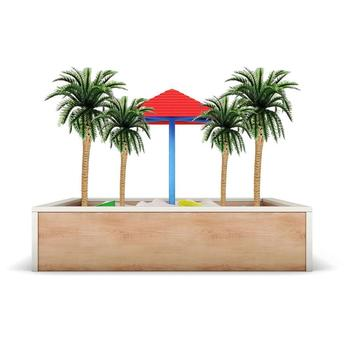 Hainan Coconut Tree Sand Table Train Real Estate Sand Tree Table Model Palm Plastic Handmade Diy Tropical C6G9 image