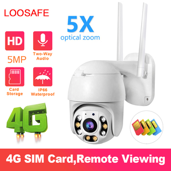 5MP Home Security IP Camera 3G 4G 5X Optical Zoom Security Surveillance Waterproof Outdoor Indoor Camera IR Night Vision CCTV
