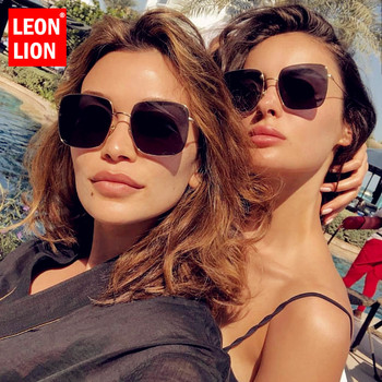 LeonLion 2021 Square Retro Sunglasses Women Brand Designer Glasses Women Vintage Eyeglasses For Women/Men Luxury Oculos Feminino