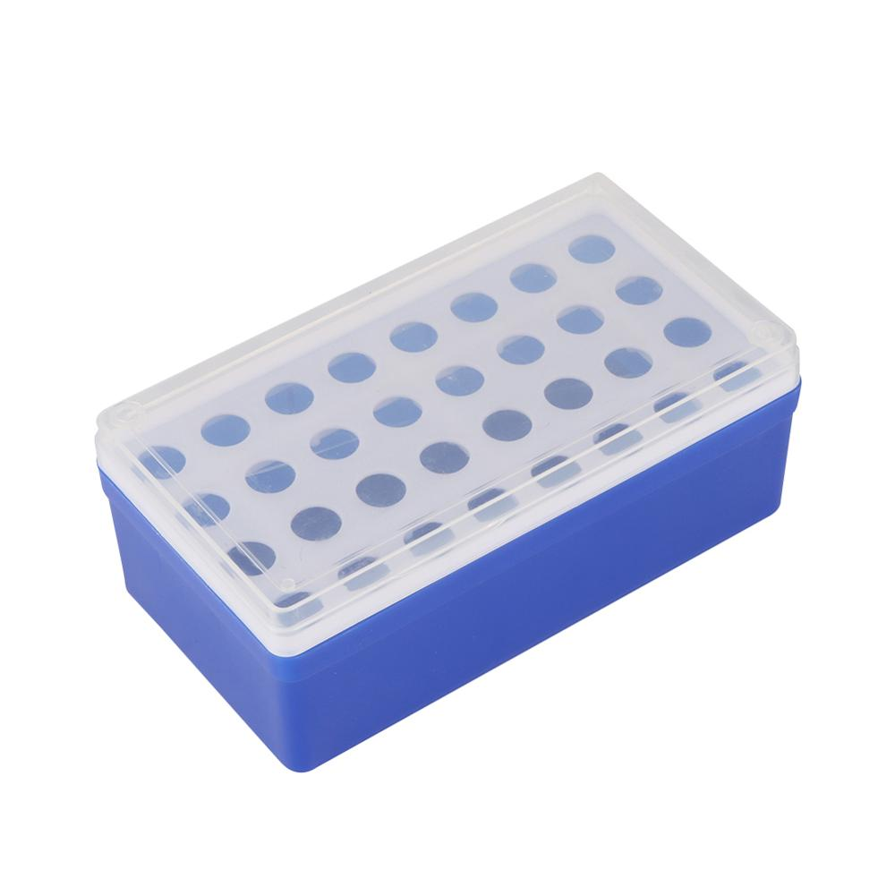 Plastic 32 Sockets 5ml Centrifuge Tube Holder Rack With Clear Cover Laboratory Test Tube Bracket Box Laboratory Supplies 1 Pc