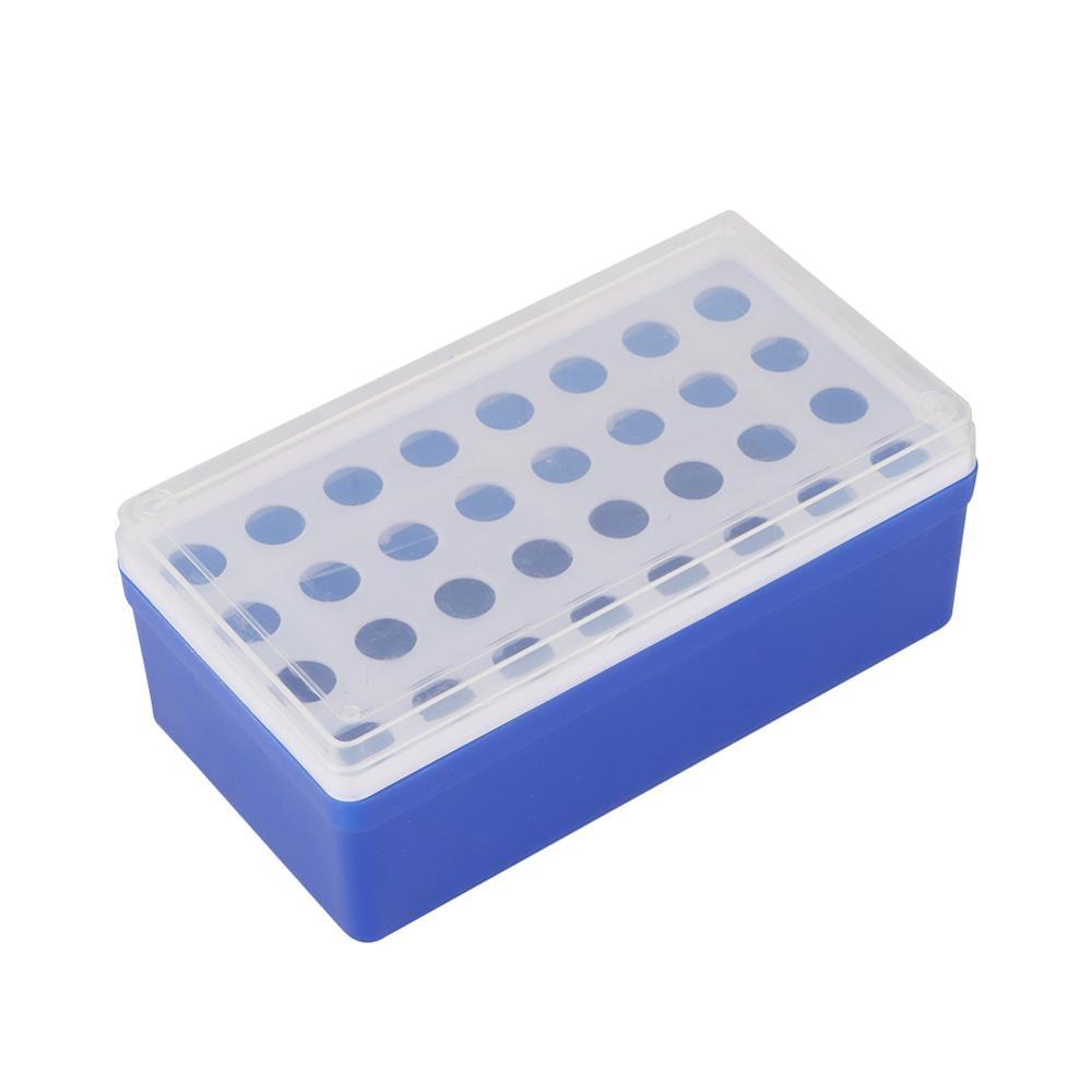 Plastic 32 Sockets 5ml Centrifuge Tube Holder Rack With Clear Cover Laboratory Test Tube Bracket Box Laboratory Supplies 1 Pc