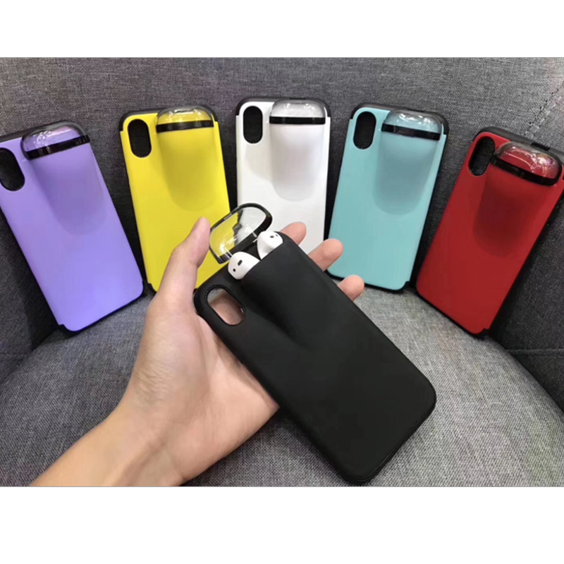 IPhone Case WIth Airpods Case For IPhone 11 Pro Max XS XR 8 7 Silicone IPhone AirPods Holder Case AirPods Cover Dropshipping