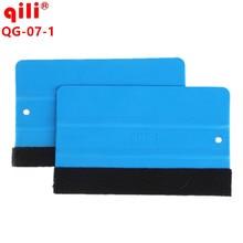 100pcs Qili QG-07 Mobile Screen Protector Install Squeegee Tool Car Vinyl Film Wrapping Tools With Felt Soft Wallpaper Scraper