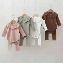 3 pçs bebê recém-nascido meninas conjuntos de roupas primavera menina pijamas manga longa bebê bodysuits + calças babadores polka dot infantil outfits