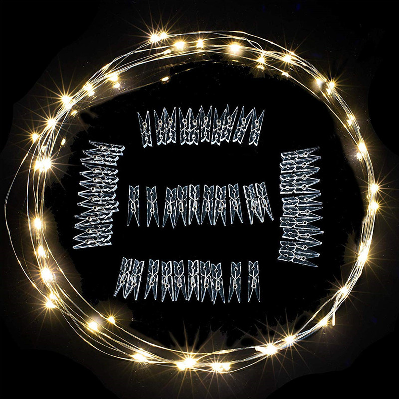 2m/5m/10m Photo Clip String Lights Led Usb Outdoor Battery Operated Garland With Clothespins For Home Decoration String Lights 5