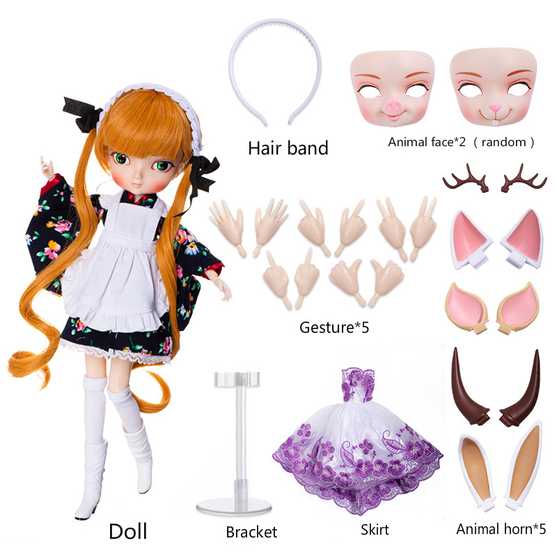 DIY Movable Refittable 35cm 1/6 <font><b>Bjd</b></font> Sd Bbgirl Doll Toys kids Joints Dolls Girl Dolls Toys Birthday Gifts for Child Children image