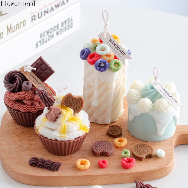 Diy Cake Candle Decoration Silicone Mold Donut Circle Resin Mold Chocolate Biscuit Mold Cake Decorating Tools Pastry Tools