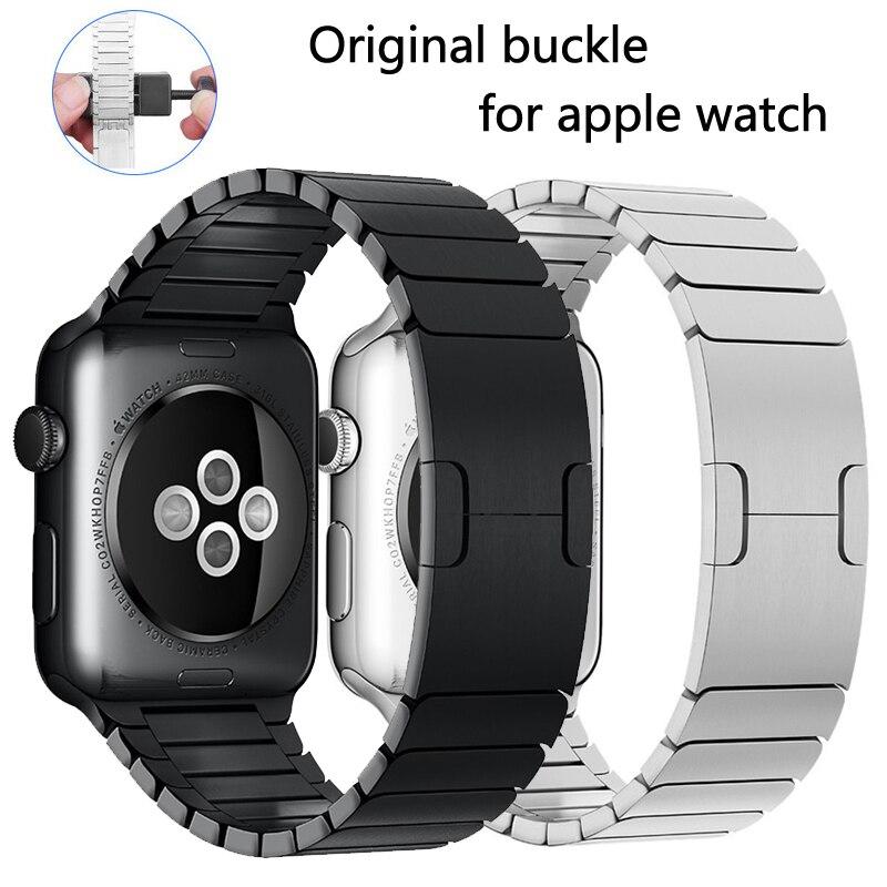 Stainless Steel Strap For Apple Watch Band 44mm 40mm Apple Watch 5 4 3 Band Iwatch 42mm 38mm Luxury Metal Link Bracelet Belt