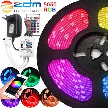 цена на WiFi LED Strip Waterproof RGB SMD 2835 5050 DC12V LED Strip Light 5m 10m 15m Led Light Strip diode Ribbon Flexible with remote