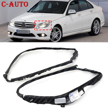 For Mercedes-Benz W204 C200 C250 C300 C350 C230 C280 07-11 Car Headlight Trims Sealing Cover 2048260991 2048261091 Car-styling image