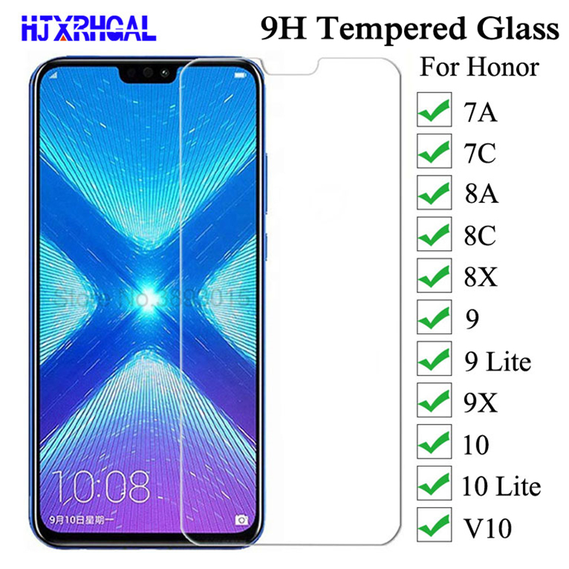 9H 0.26mm Tempered Glass For Huawei Honor 7A 7C 8A 8C 8X 9 9X 10 V10 Glass Screen Protector For Honor 9 10 Lite Protective Film