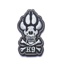 Новые продукты K9 собачья лапа крест-накрест ноги кости боевой на липучке армейская собака липучка плечо эмблема собака