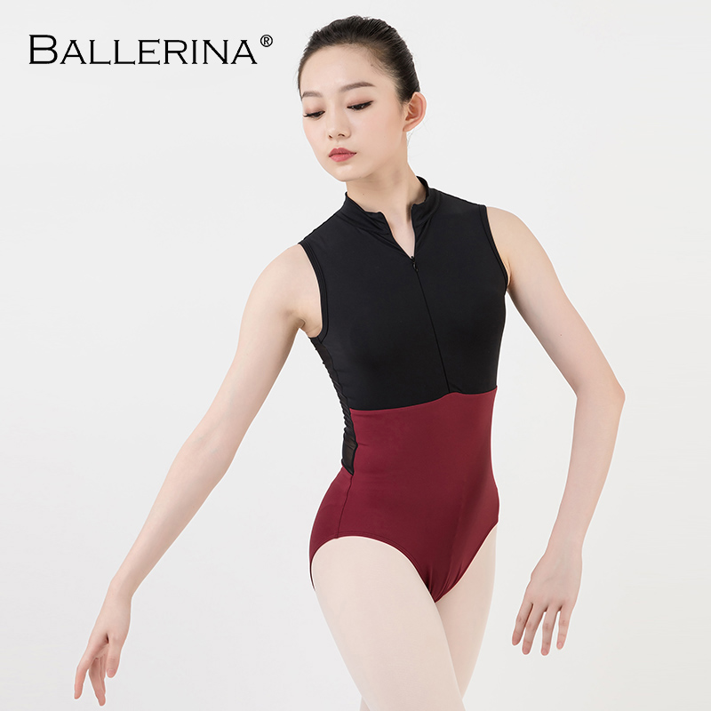 Image 3 - ballet dance Practice black mesh leotard women gymnastics Turtleneck Sleeveless Leotard Ballerina 5681-in Ballet from Novelty & Special Use