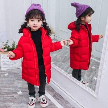 2019 الشتاء ملابس الأطفال الفتيان والفتيات سترة طويلة سترة سميكة سترة دافئة مناسبة لشتاء بارد 1