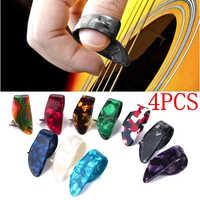 Juego de 4 unidades de colores aleatorios para guitarra acústica, eléctrica, de bajo, al por mayor, con púas para pulgar, púas para guitarra