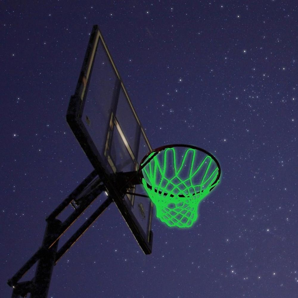 Basketball Net Heavy Duty Light Up Basketball Net High-quality Nylon Outdoor Shooting Trainning Glowing Light Luminous