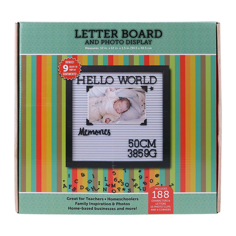 Felt Letter Board With Frame Precut Letters Picture For Hangers Baby Height Weight Growth Commemorative Photo Frame Wall Decor