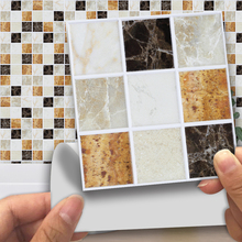 Self Adhesive Mosaic Tile Sticker Kitchen Backsplash Bathroom Wall Tile Stickers Decor Waterproof Peel & Stick PVC Tiles D40 shell mosaic mother of pearl natural colorful kitchen backsplash tile bathroom background shower decor luster wall tile lsbk1005