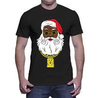 Black Santa With Gold Chain Christmas Ugly Sweater Gift Mens T Shirt custom printed tshirt, 2019 fashion t shirt