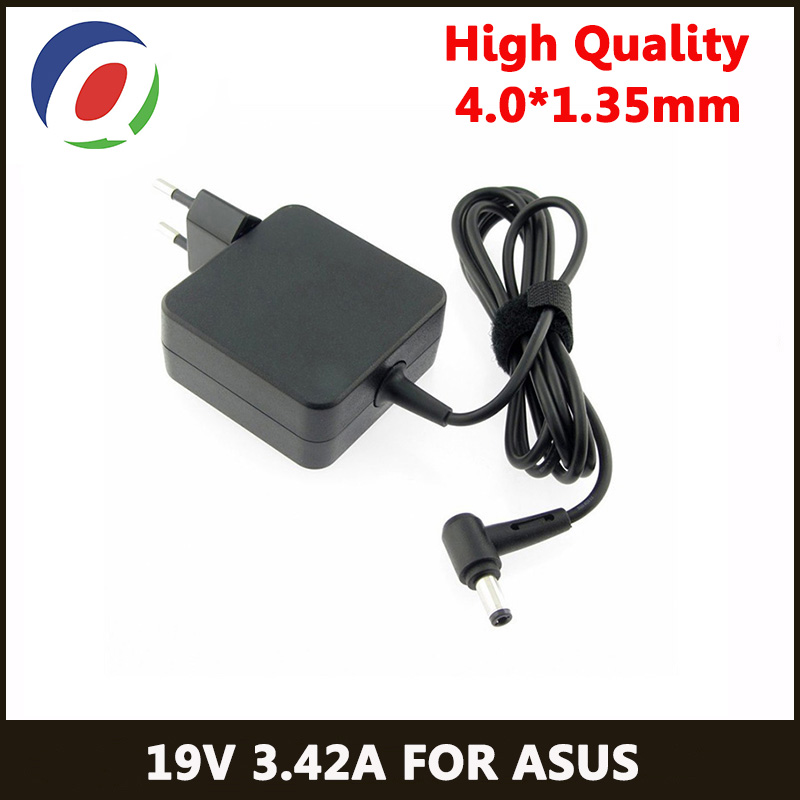 QINERN EU 19V 3.42A 65W 4.0*1.35 power Charger Laptop adapter For Asus Zenbook UX32VD UX305CA ux31a x201e ux305f s200e ADP-65DW