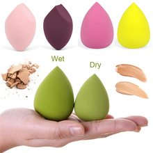 1pcs Cosmetic Puff Makeup Sponge Smooth Blending Face Liquid Foundation Cream Make Up Cosmetic Powder Puff Beauty Tools 1pcs jelly soft silicone gel powder puff sponge for cosmetic face foundation bb cream beauty makeup tool with smile face