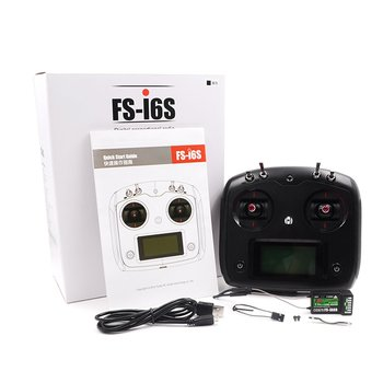 forFlysky FS-i6 FS I6 2.4G 6CH RC Transmitter Controller FS-IA6B or FS-IA10B Receiver For RC Drone Helicopter Airplane