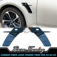 Carbon FIber Look ABS ABT Style Fender Cover Trim For Audi A3 A4 A5 A6 A7 Q3 Q5 Q7 Car Styling Air Fender Vent Trim Decor Parts
