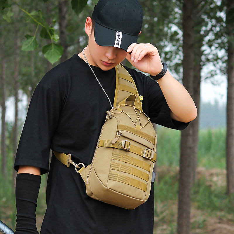 Tactical Sling Bag Molle EDC Military Hiking Backpack Shoulder One Strap Small Camping Sport Outdoor Rover Chest Pack Unisex image