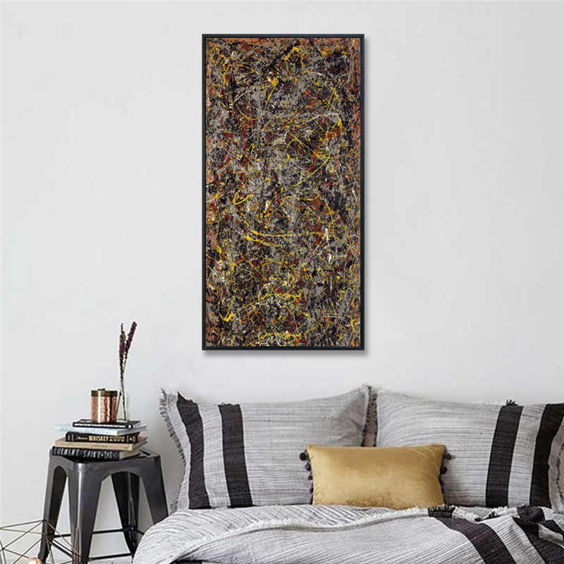 Number 5 1948 by Jackson Pollock Abstract Canvas Wall Art Living Room Home Office Decorations Unframed